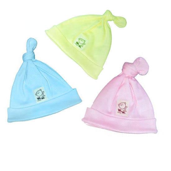 【奇買親子購物網】黃金海獺單結寶寶帽(藍/粉/黃)