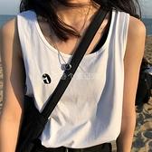 夏季復古休閒寬鬆吊帶背心女外穿內搭運動風無袖上衣T恤潮-年終穿搭new Year