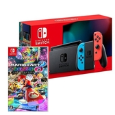 任天堂 Switch紅藍主機 (電池加強版)+瑪利歐賽車8中文版【再送搖桿蘑菇帽、保護貼、收納包】