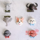 冰箱貼 寵物冰箱貼磁貼創意家居裝飾品磁力貼卡通可愛立體動物個性吸鐵石 多色