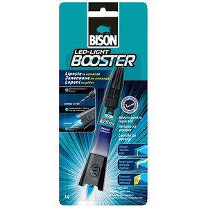 BISON 5秒瞬間UV光膠 3g  LED Light Booster
