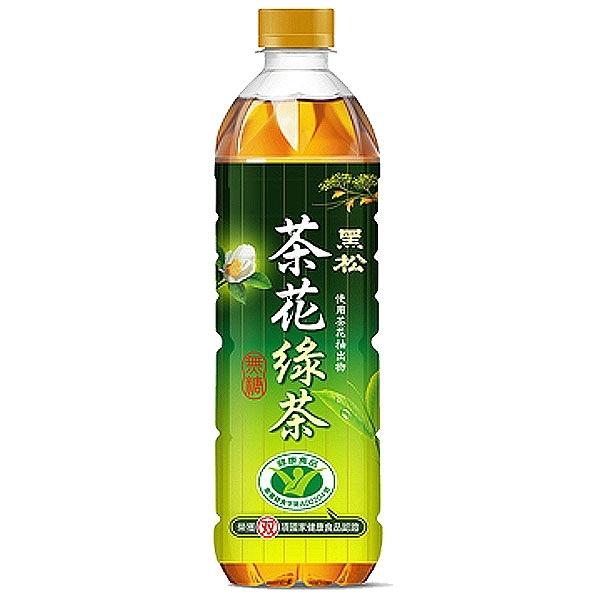 黑松 茶花綠茶 無糖 580ml (4入)/組【康鄰超市】