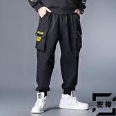 大碼工裝褲男寬鬆休閒秋冬裝束腳長褲【左岸男裝】