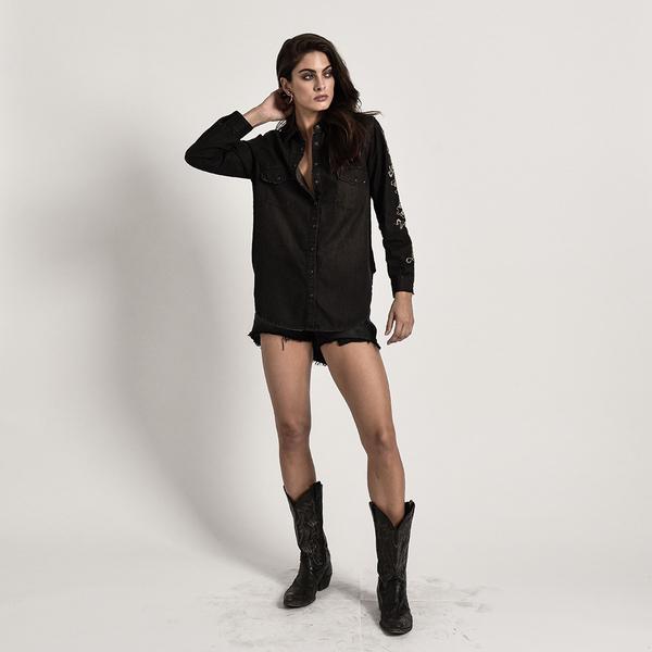 ONETEASPOON DESERT BONES SHIRT 襯衫-女(黑)