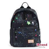 iBrand 學院風印花潮流防潑水口袋後背包-星空 GZL-9012-星空