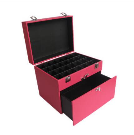 京東生活小物手提專業化妝箱多層半永久紋繡工具箱化妝箱隔板收納化妝箱大容量 大號