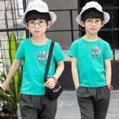 男童t恤短袖2018新款棉質夏季半袖夏裝 JA1355『時尚玩家』