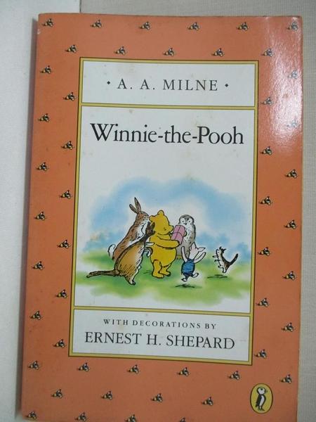 【書寶二手書T5/少年童書_COD】Winnie-the-pooh_Milne, A. A./ Shepard, Ernest H. (ILT)