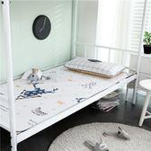 涼席單人學生宿舍0.9m寬冰絲席夏季摺疊寢室1.2m卡通單人床軟席子 igo 薔薇時尚