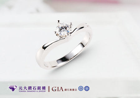☆元大鑽石銀樓☆GIA鑽石0.50克拉D/IF/3EX/八心八箭*搭配經典婚戒、求婚戒*(客製化商品)