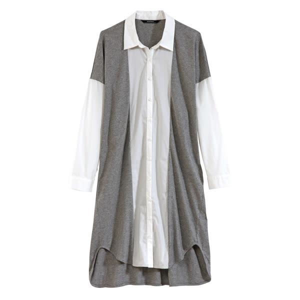 【MASTINA】雙色簡約洋裝-灰 0530