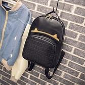 後背包-鱷魚紋韓版學生時尚流行女雙肩包2款73fd53[時尚巴黎]
