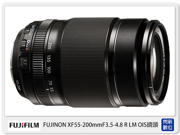 FUJIFILM 富士 XF 55-200mm F3.5-4.8 R LM OIS 鏡頭 黑 (55200,恆昶公司貨)【24期0利率,免運費】