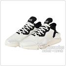 Adidas Y-3 KAIWA白字LOGO皮革拼接紡織運動鞋(白x黑)