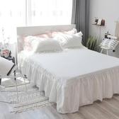 棉質床罩全棉純色床裙式單件保護套1.2/1.5/1.8/2.0m米床套可定做 KV4623 『小美日記』