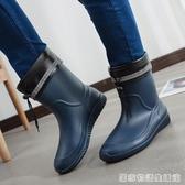 雨鞋男士中筒春秋防滑防水鞋時尚膠鞋水靴套鞋洗車釣魚鞋男雨靴 居家物語