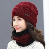 帽子女冬天加絨保暖護耳毛線帽韓版時尚百搭秋冬季騎車防寒針織帽