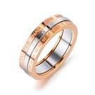 【5折超值價】時尚精美可轉動設計鑲鑽造型女款鈦鋼戒指