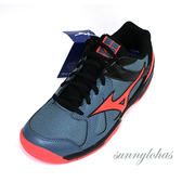 MIZUNO 美津濃 (女) CYCLONE SPEED 排球鞋 羽球鞋 緩衝-V1GC178065 灰橘 [陽光樂活]