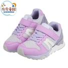 《布布童鞋》Moonstar日本Hi系列粉紫色兒童機能運動鞋(17~24公分) [ I1K809F ]