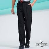 【Emilio Valentino】范倫鐵諾雅痞簡約細格紋涼爽平面西褲- 黑細條紋