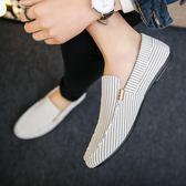 豆豆鞋男夏季豆豆鞋男士韓版百搭懶人鞋白色男鞋社會小伙一腳蹬老北京布鞋 衣間迷你屋