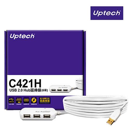 登昌恆 Uptech C421H USB 2.0 Hub延伸線 (6米)