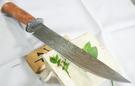 郭常喜與興達刀鋪-木柄藝術獵刀(A0297)積層鋼護手+龍柏木刀柄