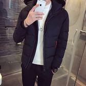 夾克外套-連帽時尚休閒百搭保暖夾棉男外套3色73qa5[時尚巴黎]