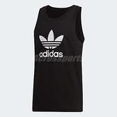 adidas 背心 Trefoil Tank Top 黑 白 三葉草 大Logo 無袖上衣 男款 【ACS】 DV1509