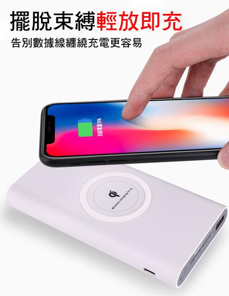 QI無線充電行動電源10000MAH 全新QI技術 IPHONEX /8 三星note5 S7/S8/S9以上 新款上市 便宜七天 盡速搶購