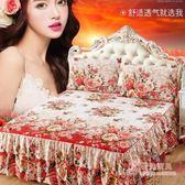 正韓床裙床罩席夢思保護套送枕套 618年中慶
