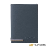 【南紡購物中心】BRAUN BUFFEL 大富翁系列護照夾 -藍色 BF350-180-NY