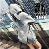 克妹Ke-Mei【AT49178】酷女孩必入!!性感兔女郎耳朵連帽寬鬆T恤洋裝