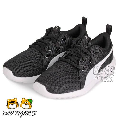 Puma Carson 2 PS 黑色 透氣網布 鞋帶運動鞋 中童鞋 NO.R2038