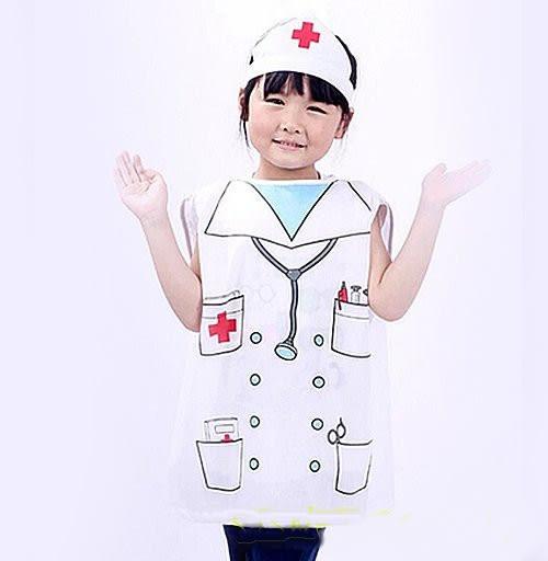 【醫生護士裝扮服】職業造型服萬聖節.聖誕節.舞會表演角色扮演道具醫生-兒童(衣+帽)
