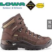 Lowa 310968-4285深棕(寬楦) 男Gore-Tex多功能健行鞋 Renegade GTX黃金大底登山鞋/軍用靴