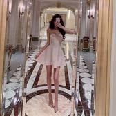 抹胸洋裝網紅同款泰國洋裝抹胸裙禮服名媛氣質性感裹胸大擺顯瘦連身裙 貝芙莉