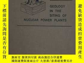 二手書博民逛書店Geology罕見in the Siting of Nuclea