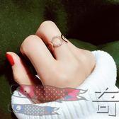 日韓潮人開口戒指女夸張食指指環圓圈關節戒指韓國配飾裝飾品【奇貨居】