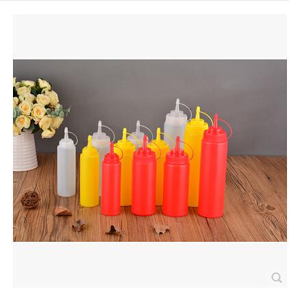 塑膠醬汁瓶沙律擠醬瓶果醬番茄醬巧克力擠壓瓶油壺裱花嘴防漏  4個裝