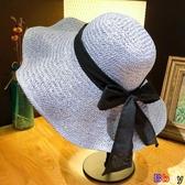 Bbay 草帽 日系 海邊 大沿盆帽 遮陽 防曬 太陽草帽 沙灘帽