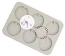 心動小羊^^DIY矽膠模具肥皂香皂模型矽膠皂模藝術皂模具香磚擴香石橢圓形鑰匙6孔吊飾模