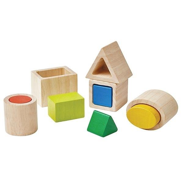 《 泰國 PLAN TOYS 》幾何形狀配對組 / JOYBUS玩具百貨