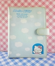【震撼精品百貨】Hello Kitty 凱蒂貓~活頁手冊夾-藍白雲*10419