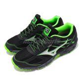 【六折特賣】Mizuno 越野慢跑鞋 Wave Kien 3 G-TX 黑 綠 銀 男鞋 運動鞋 【PUMP306】 J1GJ1659-03