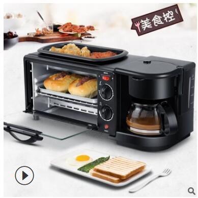 台灣現貨家用多功能三合壹早餐機110V 電烤箱 咖啡機 酷男精品館