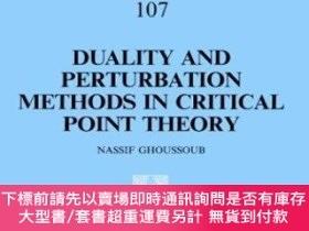 二手書博民逛書店Duality罕見And Perturbation Methods In Critical Point Theor