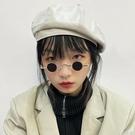 超小框圓形復古墨鏡男女款迷你小圓框太子鏡漢奸眼鏡嘻哈太陽鏡 小艾新品