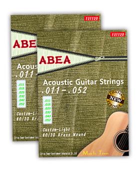 專業賣場【絃崴】ABEA( 阿貝)民謠吉他弦-黃銅011(2套),MIT品牌,獨家上市-COATING-全新護膜